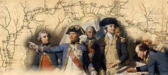 Artistic Rendering of Generals Washington and Rochambeau